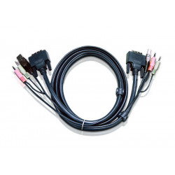 ATEN 1.8M USB DVI-I Single...