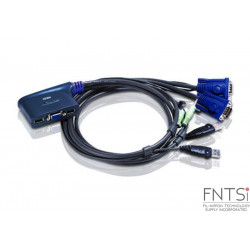 ATEN 2-Port VGA Switch with Audio (VS0201)